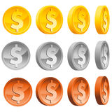 Dollar Coins Stock Image