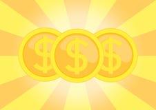 Dollar coins Royalty Free Stock Photos