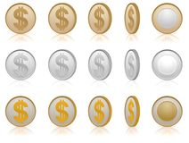 Dollar coins Stock Photo