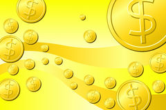 Dollar Coins Royalty Free Stock Images
