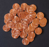 Dollar coins 1 cent wheat penny cent Royalty Free Stock Image