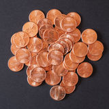 Dollar coins 1 cent wheat penny cent Royalty Free Stock Photo