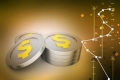 Dollar coins Stock Photo