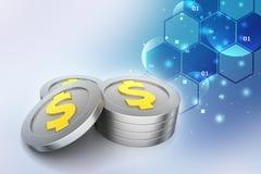 Dollar coins Stock Photos