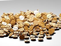 Dollar coins Royalty Free Stock Photography
