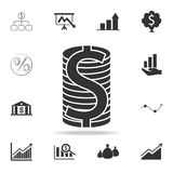 Dollar coins icon. Detailed set of finance, banking and profit element icons. Premium quality graphic design. One of the collectio. N icons for websites, web Royalty Free Stock Image