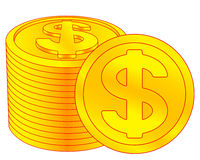 Dollar coins icon Royalty Free Stock Images