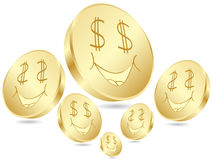 Dollar coins poster Stock Image