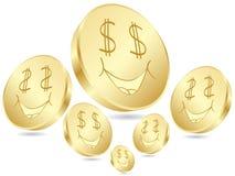 Dollar coins poster stock illustration