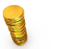 Dollar coins stack Royalty Free Stock Photo