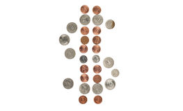 Dollar coins symbol Royalty Free Stock Photo