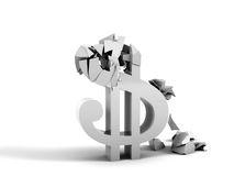 Dollar Collapse Royalty Free Stock Photos