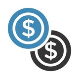 Dollar icon. Dollar color line  icon Royalty Free Stock Images