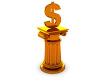 Dollar column Stock Photo