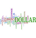Dollar communication word cloud Royalty Free Stock Photography