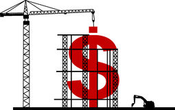 Dollar construction Stock Photos