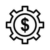 Dollar control icon Stock Photos
