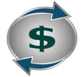 Dollar conversion symbol Stock Photo