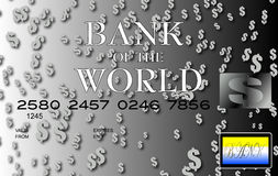 Dollar credit card silver Royalty Free Stock Photography