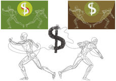 Dollar in crisis Royalty-vrije Stock Foto