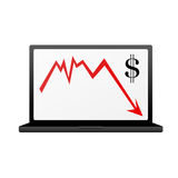 Dollar crisis. Illustration on white Stock Photo