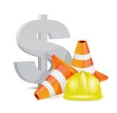 Dollar crisis concept illustration design Stock Photo