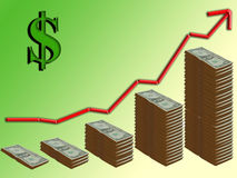 Dollar croissant illustration de vecteur