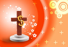Dollar and cross Stock Images
