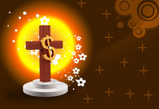 Dollar and cross Royalty Free Stock Image