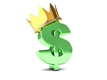 Dollar in crown Royalty Free Stock Photography