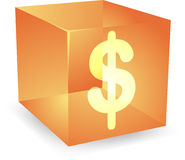 Dollar cube icon Royalty Free Stock Photography