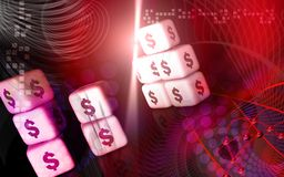 Dollar cubes Royalty Free Stock Photo