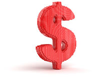 Dollar from cubes Royalty Free Stock Photography
