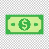 Dollar currency banknote icon in flat style. Dollar cash vector. Illustration on isolated background. Banknote bill business concept royalty free illustration