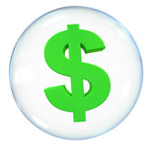 Dollar Currency Bubble vector illustration