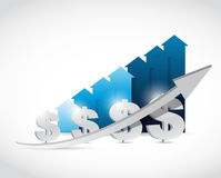Dollar currency business graph illustration Stock Image