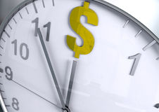 Dollar currency countdown Royalty Free Stock Photos