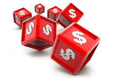 Dollar currency cubes. 3d illustration of Dollar currency cubes Stock Image