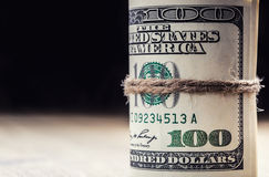 Dollar currency.Dollar banknotes rolled in other positions Royalty Free Stock Photography