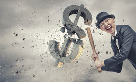 Dollar currency fall Royalty Free Stock Image