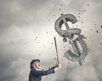 Dollar currency fall Stock Images