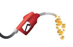 Dollar currency gas pump illustration design Royalty Free Stock Photography