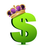 Dollar currency gold crown Stock Image