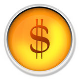 Dollar, $, currency, icon, us dollar, money Royalty Free Stock Photos
