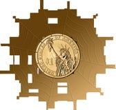 Dollar, Currency, Money, Cobweb Stock Photography