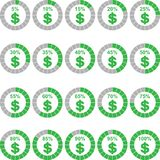 Dollar Currency Percentage. Dollar Currency Infographic Stock Photo