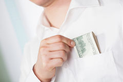 Dollar currency in pocket Royalty Free Stock Photo