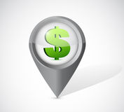 Dollar currency pointer illustration design Royalty Free Stock Photography