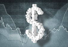 Dollar currency rate, 3D rendering Royalty Free Stock Images