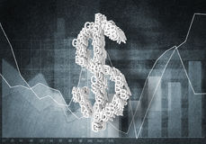 Dollar currency rate, 3D rendering Stock Photography